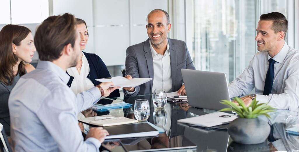 business people working in a meeting